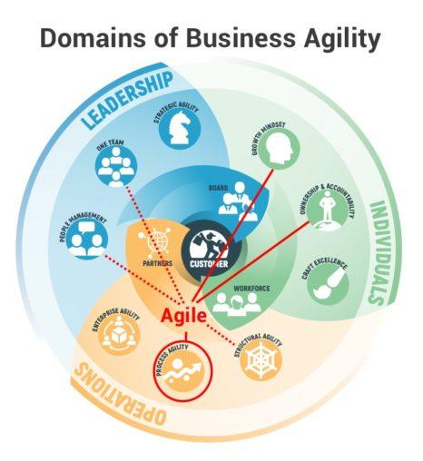 Business Agility vs Agile: схема